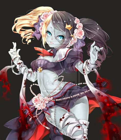anime zombie girl i think this is the cutest little zombie i ve seen yet
