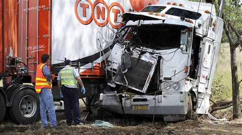 truck crashes many vic truck crashes not drivers fault the courier mail