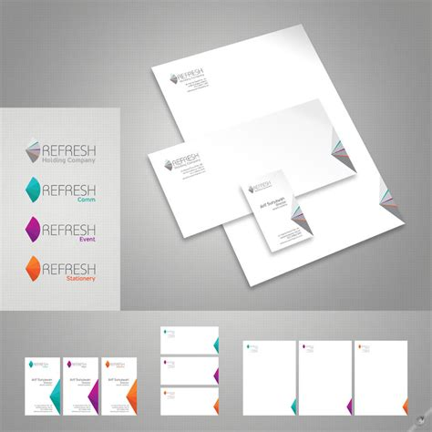 office stationery design templates 54 unique pocket folder and office stationery designs
