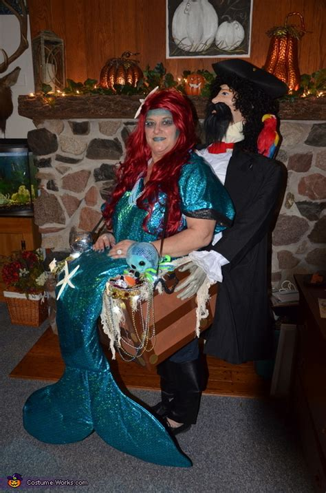 mermaid pirate carry  illusion costume diy costumes