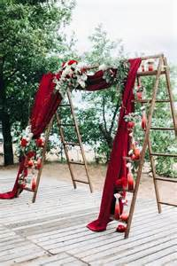 Backdrop Drapes For Weddings Vintage Ladder Wedding Arch Cost Effective Ideas