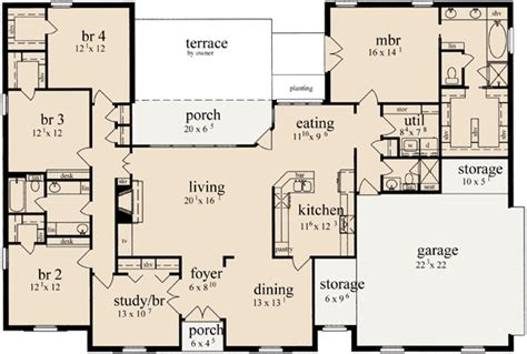 5 bedroom country house plans country style house plans 2349 square foot home