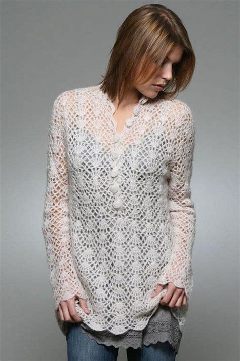 How To Make Handmade Sweater - lace sweater crochet patterns make handmade crochet