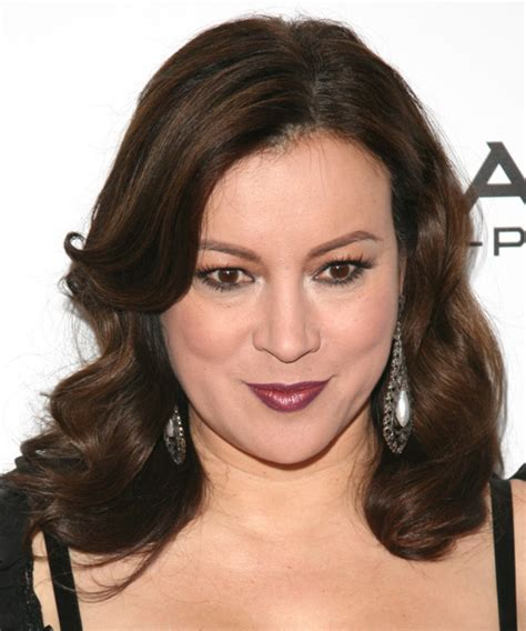 pictures of jennifer tilley with short curly hair jennifer tilly medium wavy formal hairstyle dark