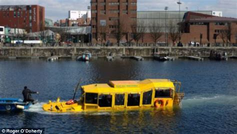 boat tour liverpool tourist terror as hibious duck bus carrying 31 people