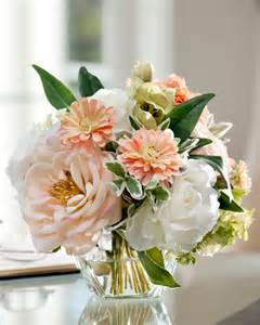 Topiary Trees For Weddings - soft and soothing peaches amp cream silk flower arrangement at petals