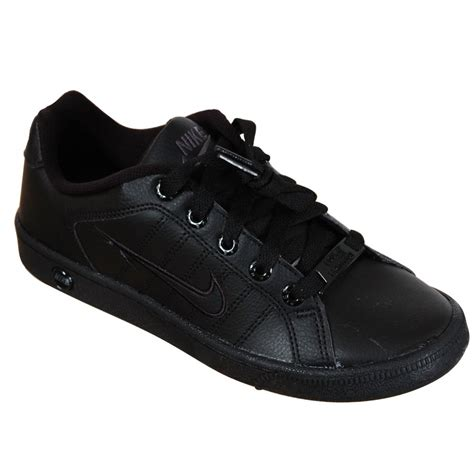black shoes nike court tradition 2 school shoes black