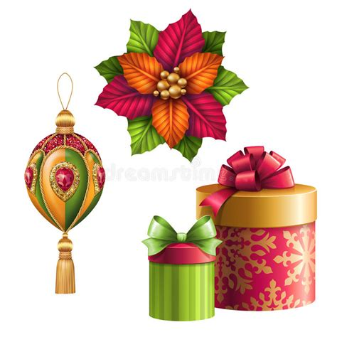 studio decor holiday clip ornaments clip isolated on white background gifts design elements