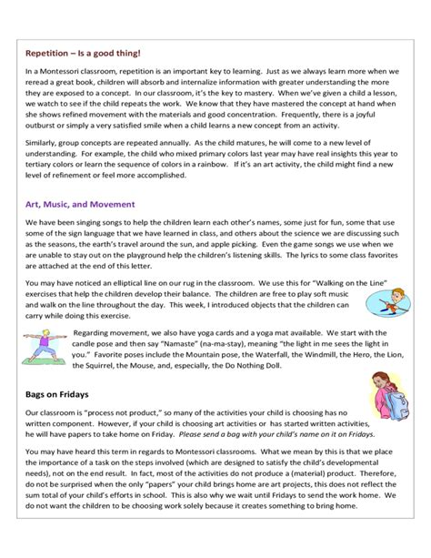 Sle Newsletter Concord Montessori School Free Download Montessori Newsletter Templates
