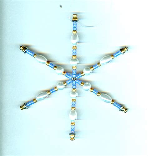 periwinkle and pearl handmade snowflake christmas tree