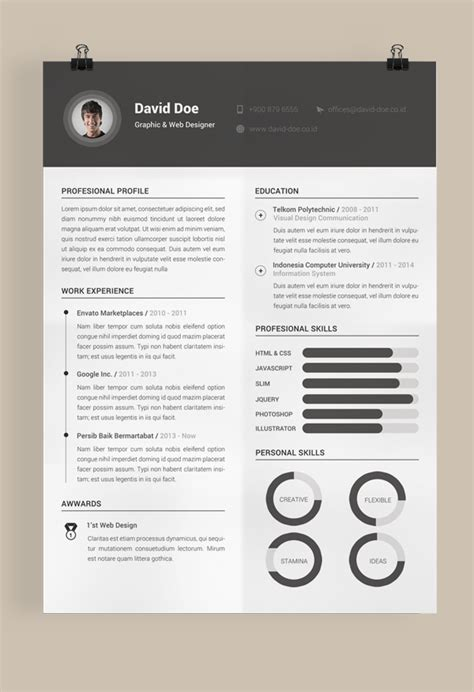 Resume Templates With Design For Free Free Resume Template