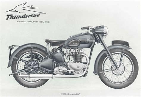 Triumph Motorrad 1950 by 1950 Triumph Thunderbird Brochure