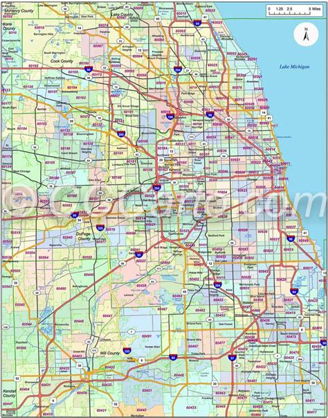 Pdf Chicago Is In What County by Chicago Il Zip Code Map Cook County Zip Codes