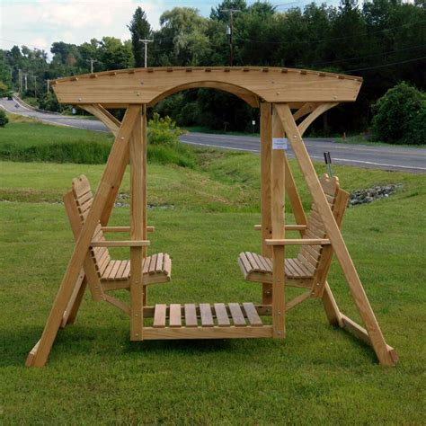 double lawn swing double lawn swing garden outdoor pinterest