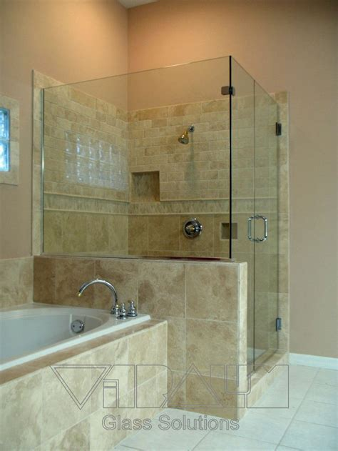 half wall frameless shower enclosure frameless glass shower 39 best images about bathroom on contemporary bathrooms vanities and tub enclosures