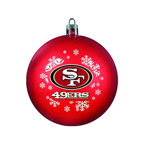 amazon com nfl ornaments san francisco 49ers tree ornaments
