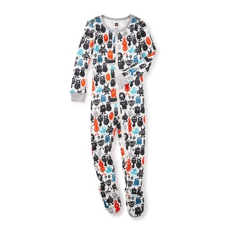 Pajamas Baby monsterrific baby pajamas tea collection