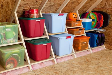 Garage Attic Storage Ideas Simple Attic Or Kneewall Storage Idea For The Home