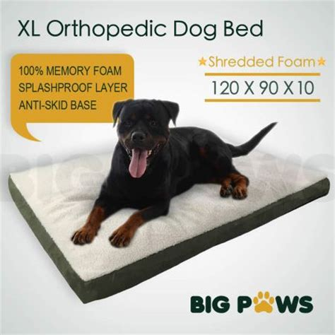 water resistant dog bed big paws memory foam dog pet bed mat orthopedic extra