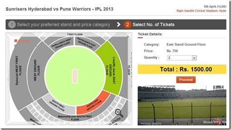 bookmyshow number watching ipl at stadium on tv online sm or mobile full
