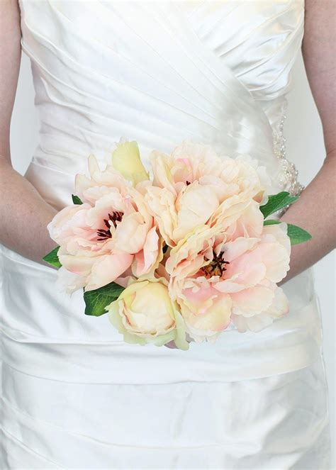 Flower Silk Wedding by Silk Peony Bouquet In Silk Wedding Flowers