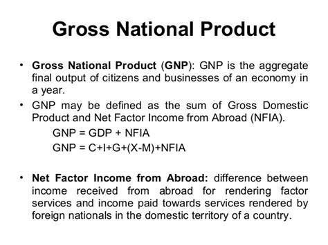national biography definition define and explain gross national product c to f