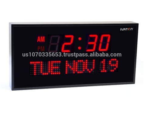 oversized led clock ivation big oversized digital led calendar clock with day