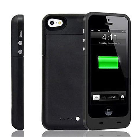 iphone 5 5s se slim external portable power bank battery charger cover ebay