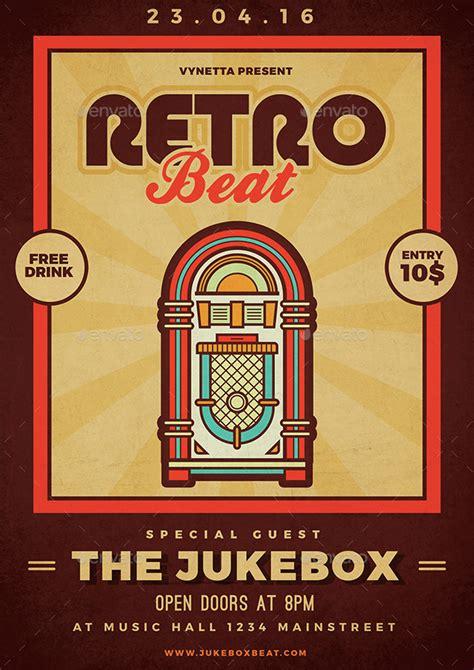 Retro Flyer Retro Beat Poster Flyer By Vynetta Graphicriver