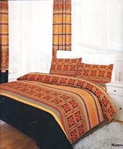 3pc florence orange king size bedding bed duvet cover