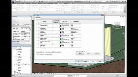 revit tutorial start to finish revit architecture 2011 tutorial managing line styles