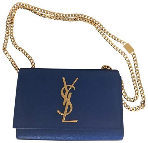 saint laurent monogram kate ysl monogram  blue leather
