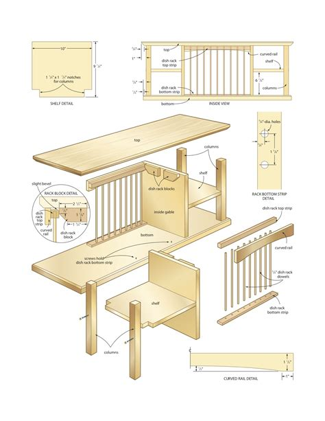 Woodworking Shelf Plans by Dish Organizer Rack Woodworking Plans Woodshop Plans