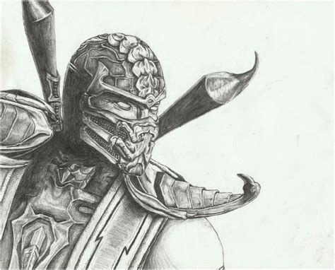how to draw scorpion from mortal kombat x easy things to mortal kombat 9 scorpion by lazi1580 on deviantart