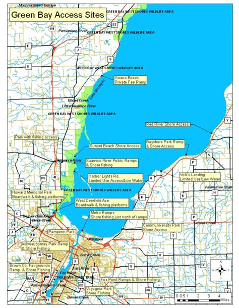 green bay map fly fishing stuff