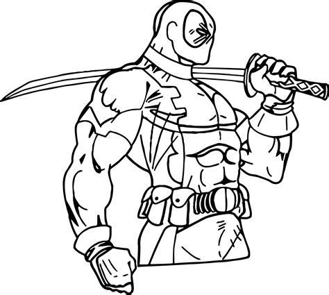coloring book views deadpool side view coloring page wecoloringpage