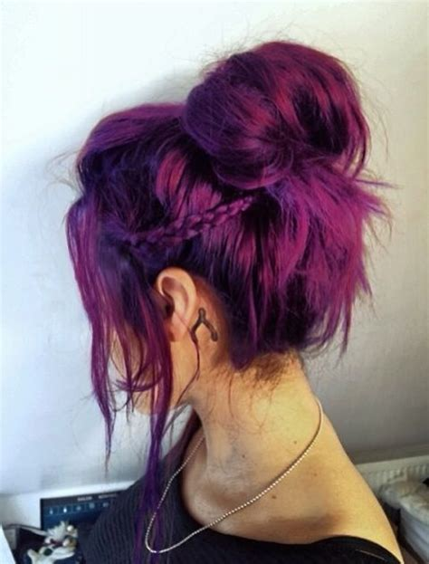 cute hairstyles for dyed hair 17 stylish hair color designs purple hair ideas to try