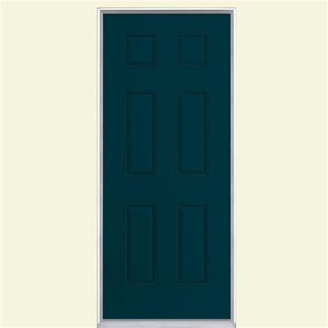 Panel Fiberglass masonite 36 in x 80 in 6 panel painted smooth fiberglass prehung front door with no brickmold