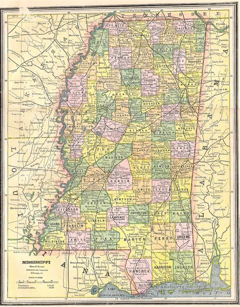 map of ms mississippi county map