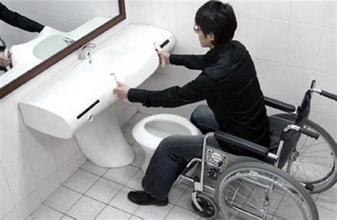 people using the bathroom handicapped friendly bathroom design ideas for disabled people