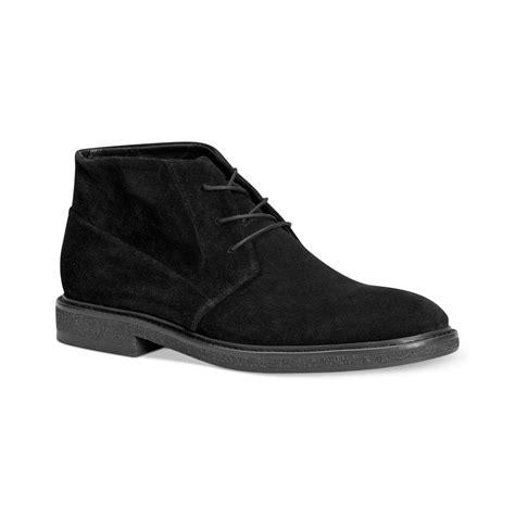 calvin klein phillip chukka boots in black for lyst