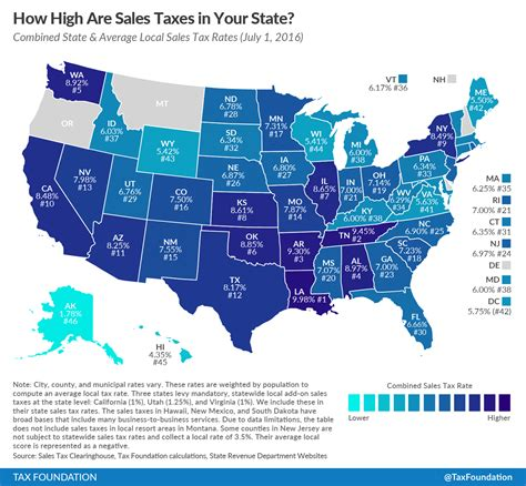 what is washington state sales tax state and local sales tax rates midyear 2016 tax foundation