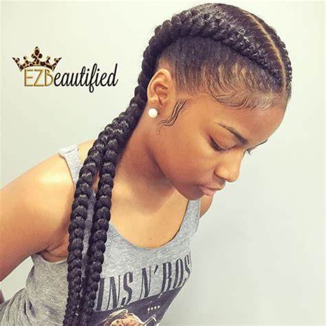 2 braids hairstyle for black hair eye catching goddess braids charming goddess braids