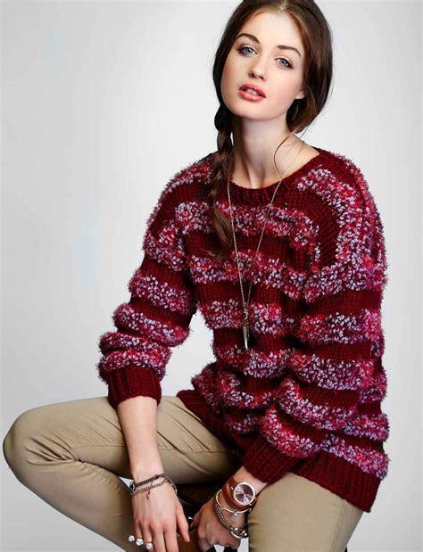 knitting pattern striped jumper lazy day striped pullover allfreeknitting com