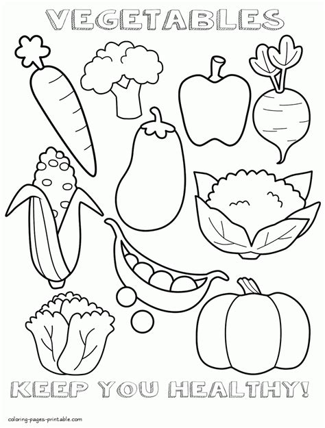 healthy color pictures vegetables healthy and unhealthy food coloring pages