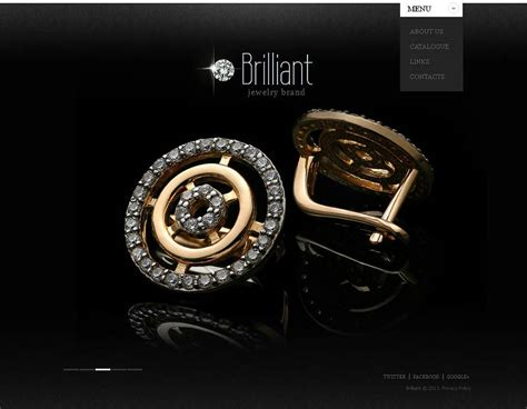 web design inspiration jewelry jewelry website template with a glossy black background