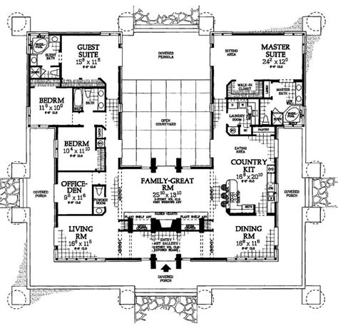 house plan rectangle with courtyard 1000 ideas about square feet on pinterest small apartment design tiny cottages and small