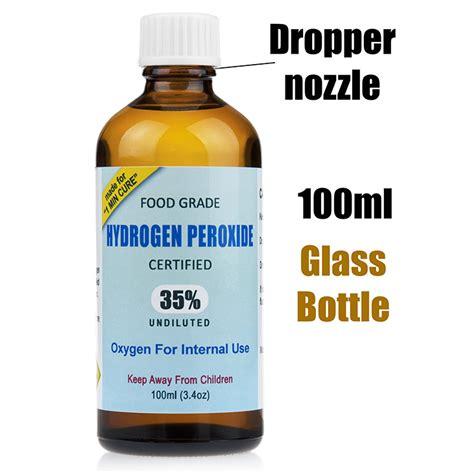 Hydrogen Peroxide 6 Solution Bleaching 100ml 35 food grade hydrogen peroxide 100ml mmsdetox