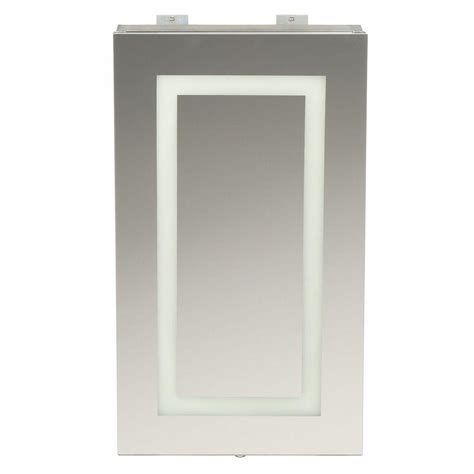 Led Bathroom Cabinet Mirror Glacier Bay 15 In X 26 In Frameless Surface Mount Led Mirror Bathroom Medicine Cabinet With