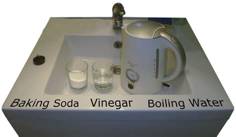 baking soda and vinegar clogged vinegar to unclog drains
